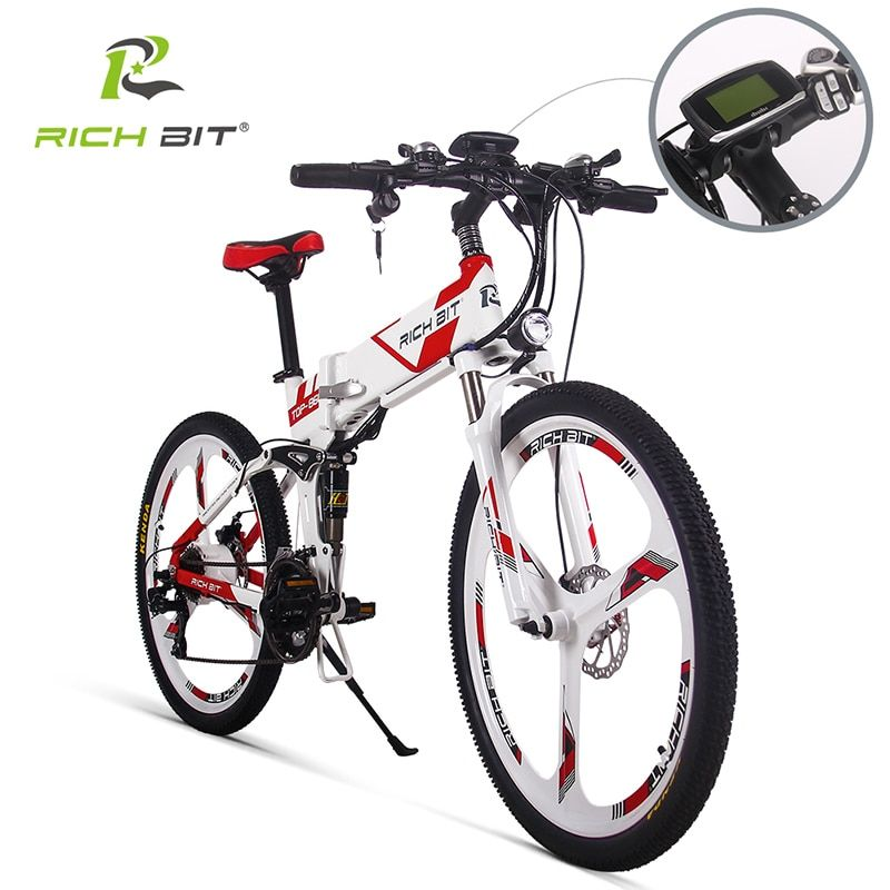 RichBit Neue 36 V * 250 Watt E-bike Mountainbike Hybrid Electric Fahrrad Wasserdichten Rahmen Innen Li-on 12.8Ah batterie Klapp ebike
