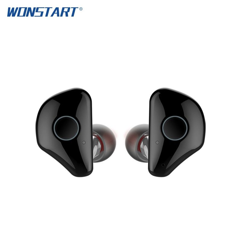 Wonstart TWS Wireless Earbuds W6 True Wireless Bluetooth Earphones Stereo Noise Cancelling Earpieces with Mic Charging Case