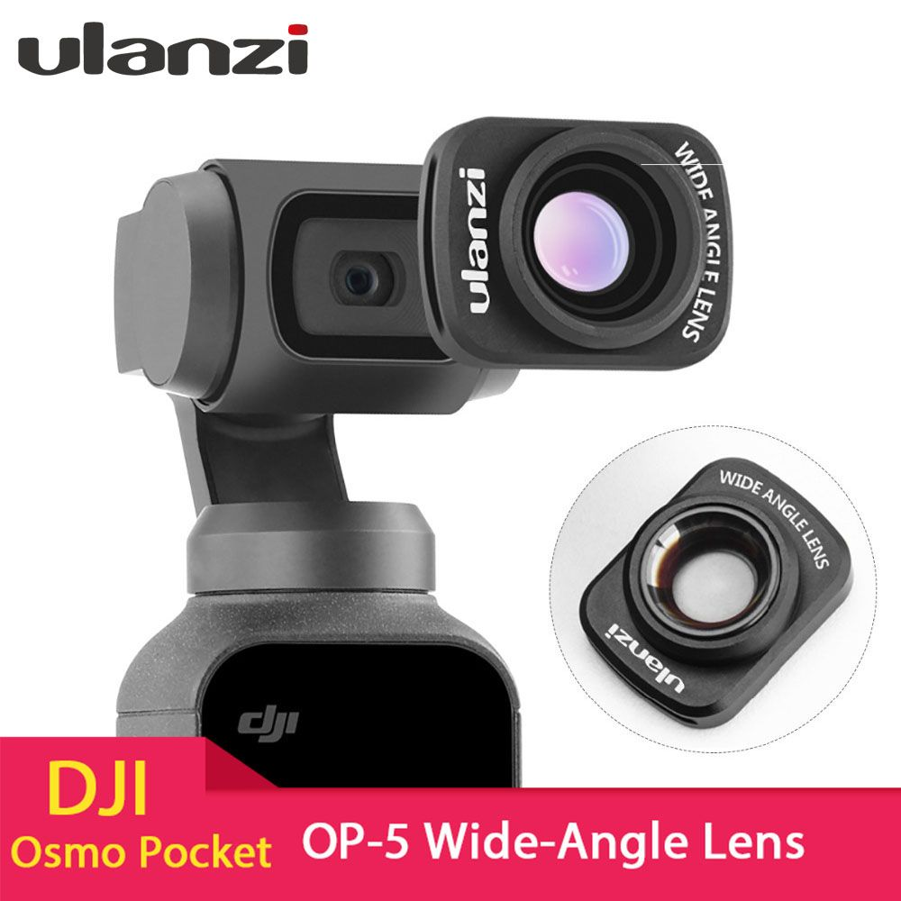 Ulanzi OP-5 Large Wide-Angle Lens for DJI Osmo Pocket, Professional HD Magnetic Structure Lens Osmo Pocket Accessories