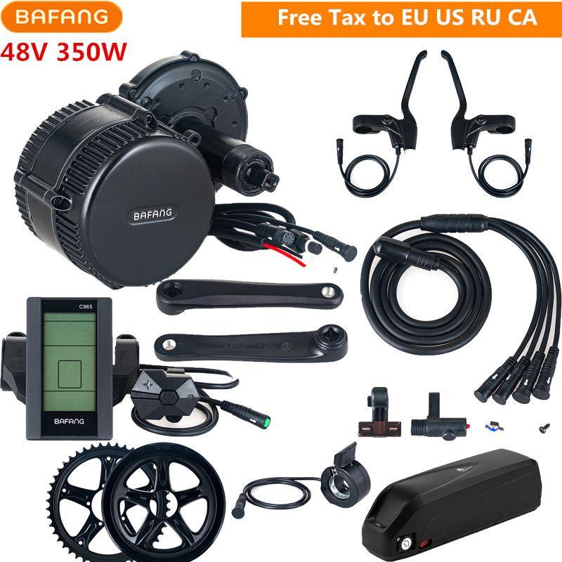 Bafang 8fun 48 v 350 watt BBS01B Elektrische Fahrrad Mitte Drive Motor Conversion Kits Mit 48 v 13AH Lithium-Batterie c961 C965 Display