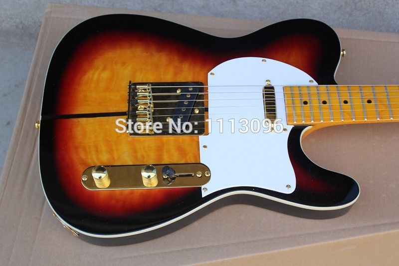 Electric guitar/ TL tuff dog guitarra/oem yellow /sunburst color oem electric guitar/guitar in china