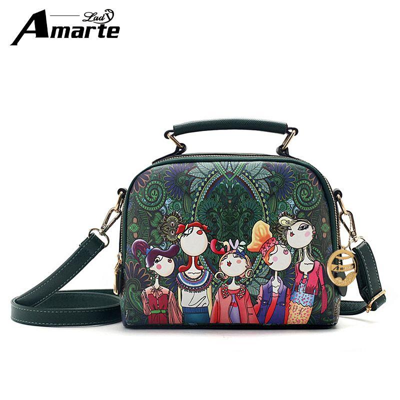 Amarte печати Для женщин Сумки Роскошные Сумки Для женщин Сумки дизайнер Для женщин сумка женская клапаном сумка с длинным ремнем