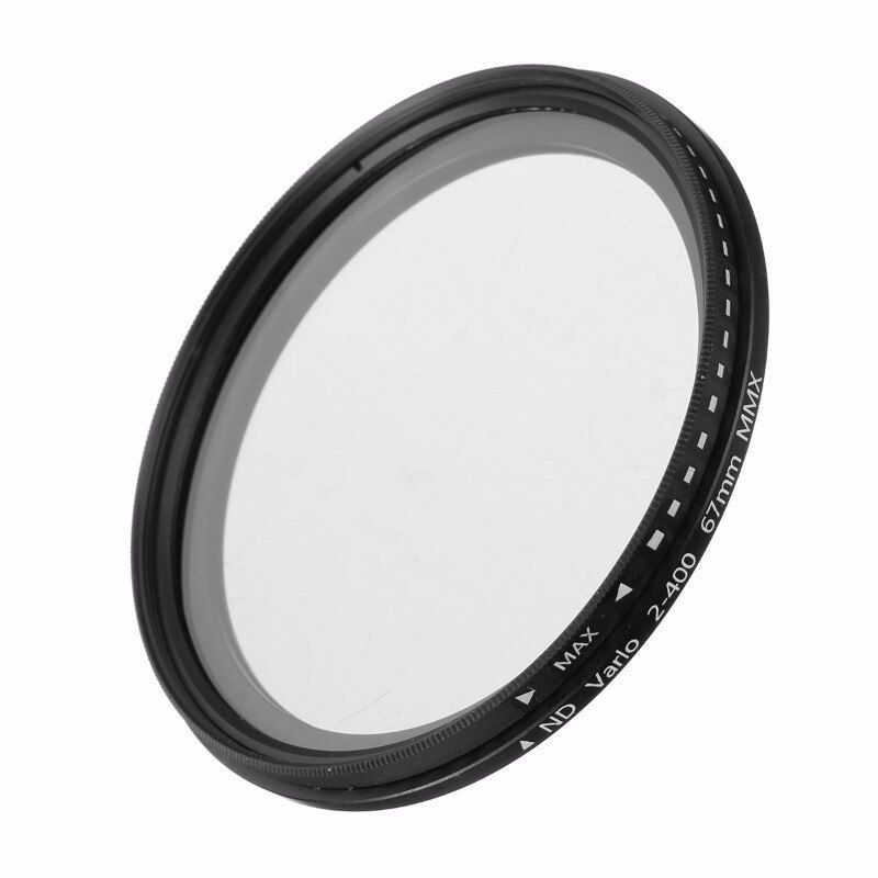 Caméra ND filtre Fader densité neutre réglable ND2 à ND400 filtre Variable 52mm 55mm 58mm 62mm 67mm 77mm pour Canon pour Nikon