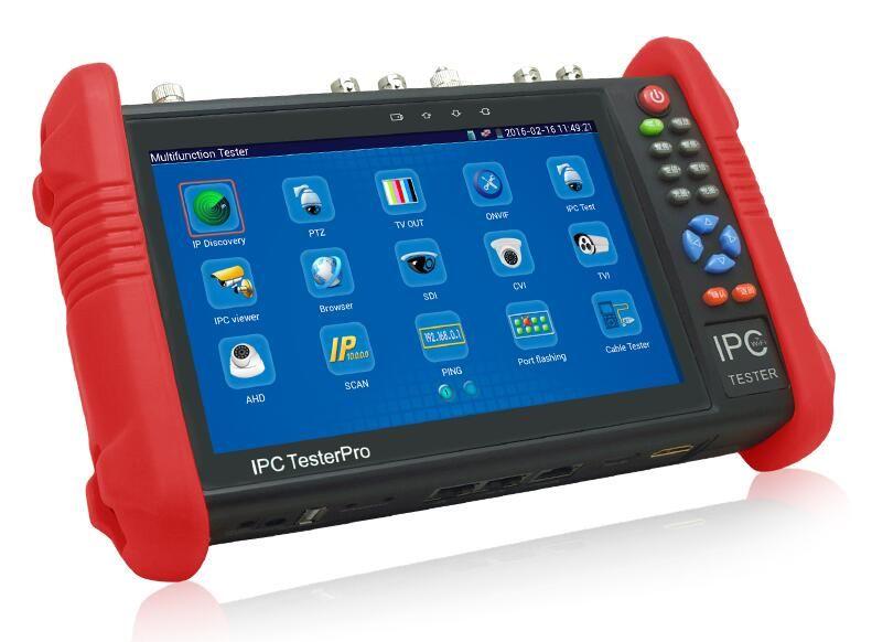 Wanglu 7 Inch 5 In 1 HD CCTV Tester Monitor IP AHD CVI TVI Analog Cameras Testing 8MP 5MP 1080P WIFI ONVIF PTZ POE 12V