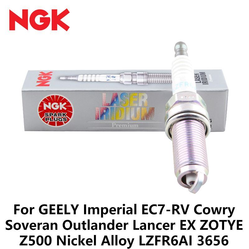 1pcs/lot NGK Car Spark Plugs For GEELY Imperial EC7-RV Cowry Soveran Outlander Lancer EX ZOTYE Z500 Nickel Alloy LZFR6AI 3656
