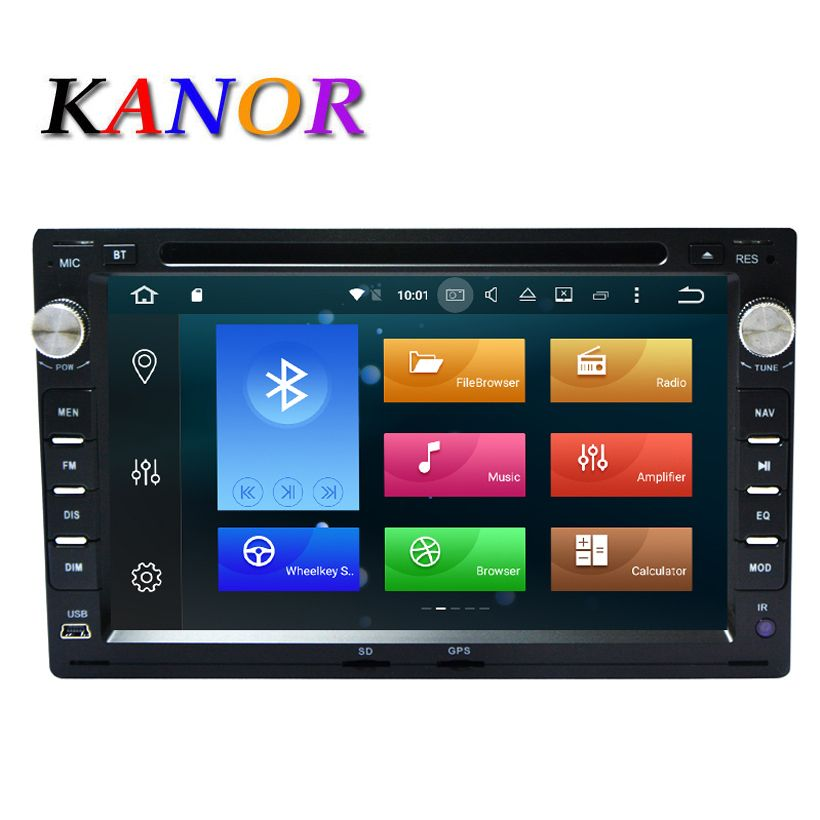 KANOR Octa Core 4+32G 2 Din Android 8.0 Car Radio Player For VW Volkswagen Passat B5 Golf 4 Jetta Polo Sharan T5 1999-2005