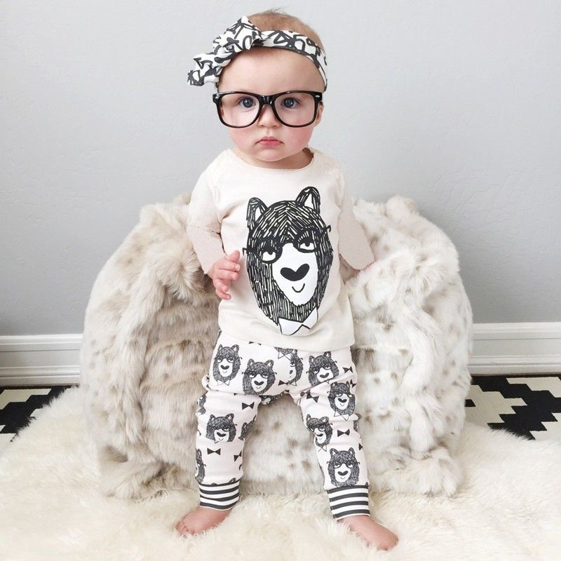 2pcs Style Infant Clothes Baby Clothing Sets Boy Cotton Little Monsters Short Sleeve Baby Boy Clothes Retail 2017 Summer V60