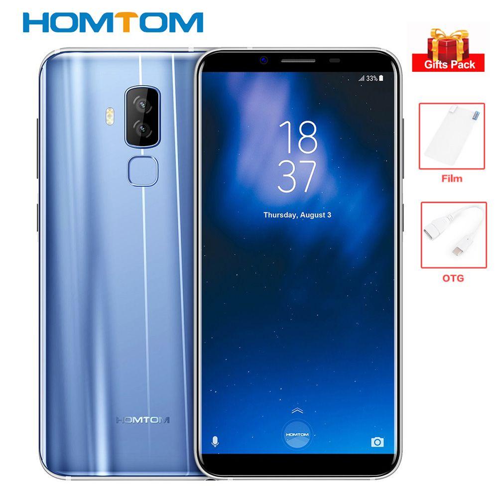 HOMTOM S8 4 gb + 64 gb 4g Smartphone 5,7 ''18:9 5 v/2A 13MP + 16MP cams Octa Core MTK6750T Android 7.0 Handy Fingerprint 3400 mah