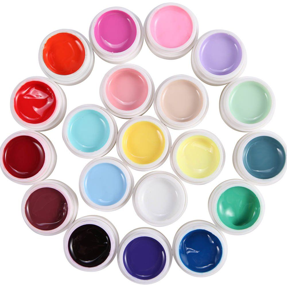 20 colors lot Gel UV range milkshake PR fake nail tip manicure