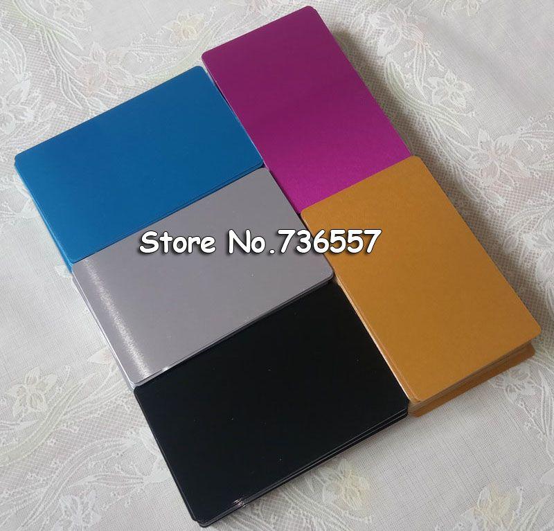 100 pcs Blanc sublimation métal nom l'impression de cartes de visite vierge carte D'IDENTITÉ utiliser sublimation encre et papier cinq couleurs