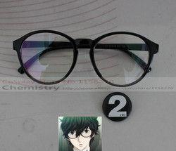 Persona akira kurusu pahlawan Futaba Sakura cosplay kacamata dengan nomor bedge 2