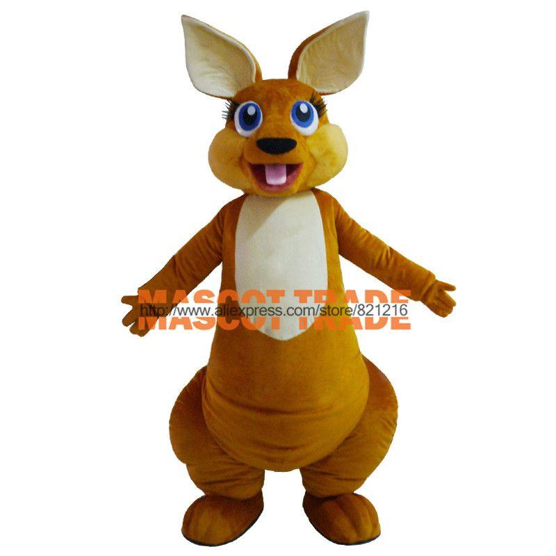 Adult Lovely Kangaroo Mascot Costume Custom Made Mascot Fancy Dress Costumes Animal Costume Party Costumes