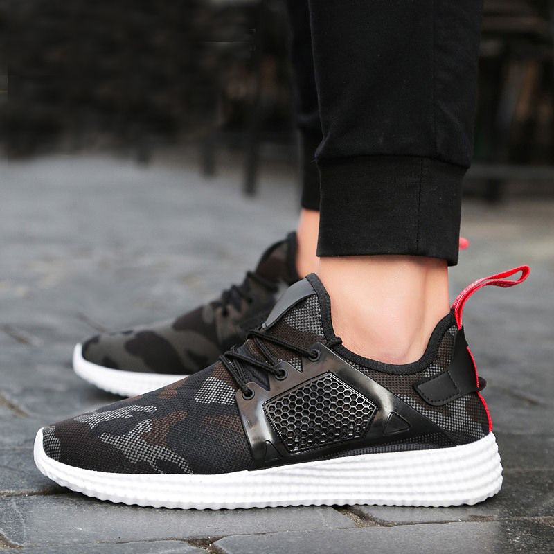 2018 LAISUMK Super Men Casual Shoes Canvas Camouflage <font><b>Star</b></font> Style Male Shoes Comfort Soft Walking Driving Shoes Men Trainers