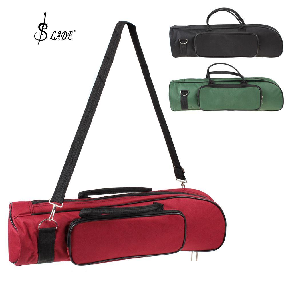 SLADE sac de trompette professionnel en Nylon doux coton sac étui Durable Double fermeture à glissière conception (3 couleurs en option) à la mode simple