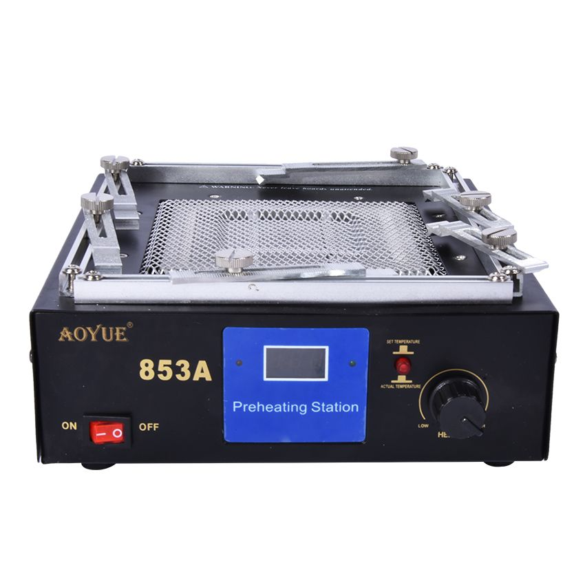 853A 110/220 V infrared digital preheating table Rework Station Soldering Station IR preheating Heating disk area 130*130 mm
