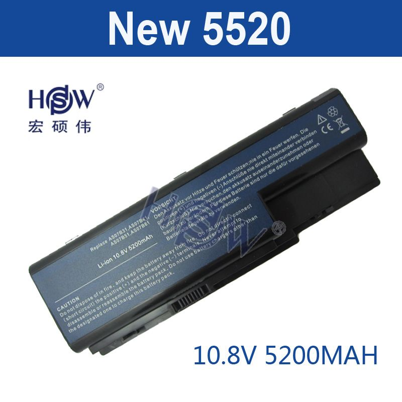 HSW 5200MAH laptop battery for ACER Aspire 5910G 5920 5920G 5930 5930G 5935 5940 5940G 5942 5942G 6530 6530G 6920 bateria akku