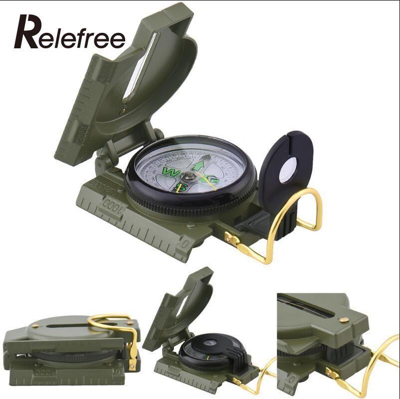 Relefree Outdoor Camping Kompass Militär Armee Wandern Camping Objektiv Überleben Lensatic Mini Metall Kompass