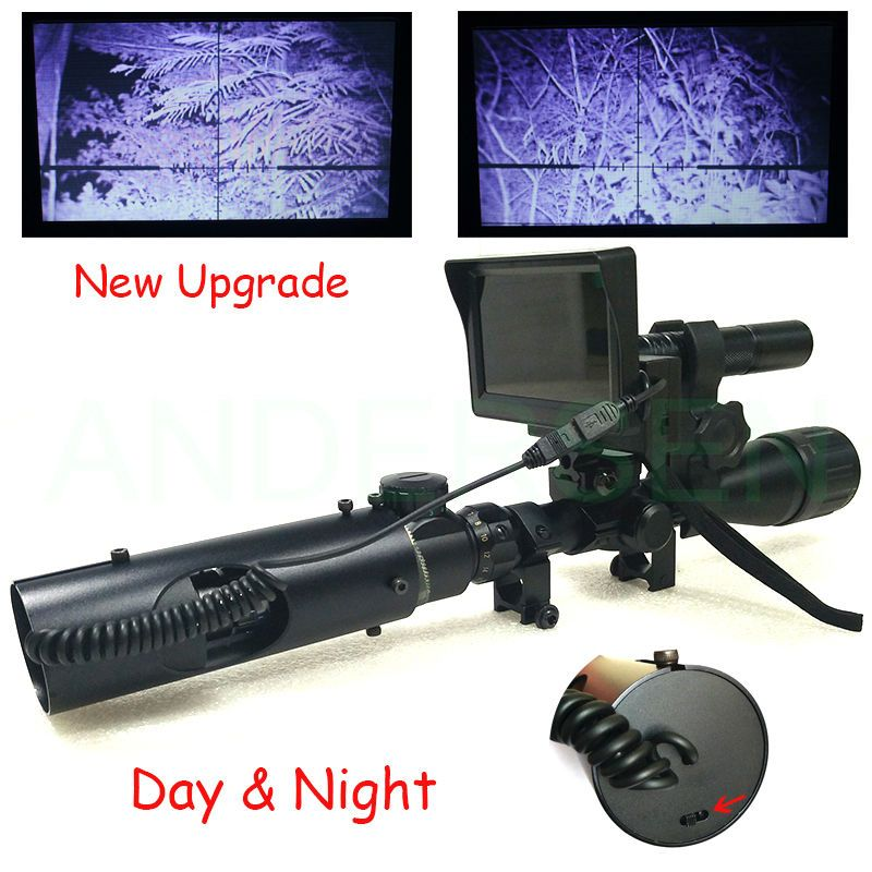 Upgrade Hot Selling Sniper Outdoor Hunting optics Tactical digital <font><b>Infrared</b></font> night vision riflescope use in day and night