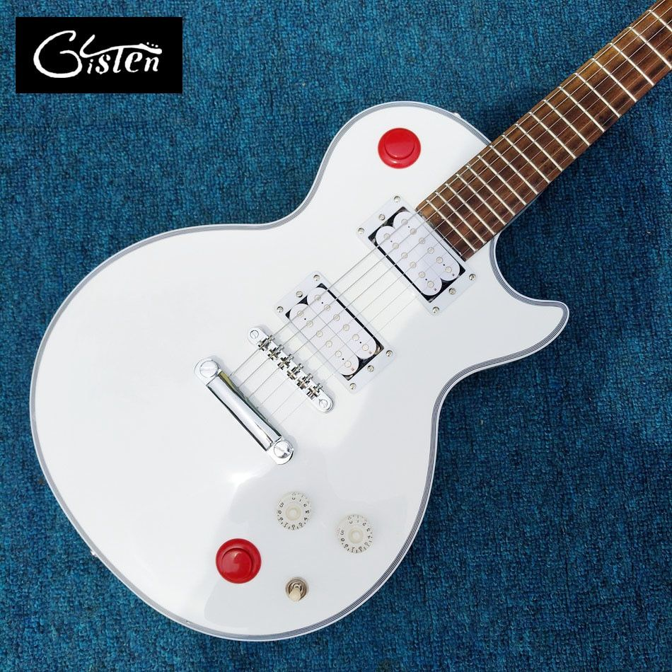 New Custom Shop Kill Switch Buckethead style guitar 24 Frets Electric Guitar, Alpine White Guitarra,Tonepro bridge, White guitar