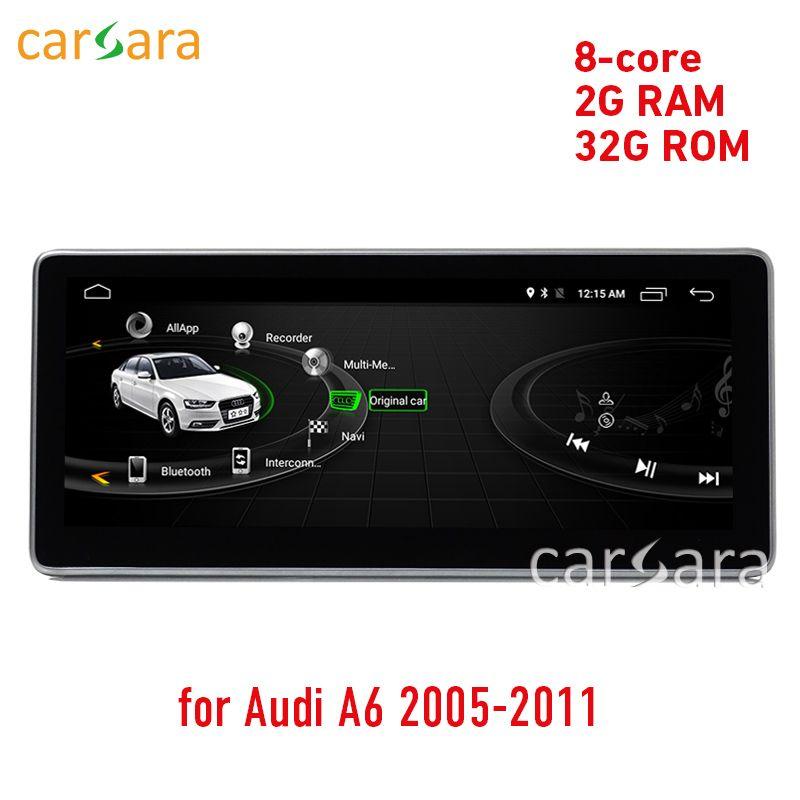 2g RAM 32 ROM Android bildschirm update für Aud ich A6 2005 zu 2011 touch screen GPS Navigation radio stereo dash multimedia player
