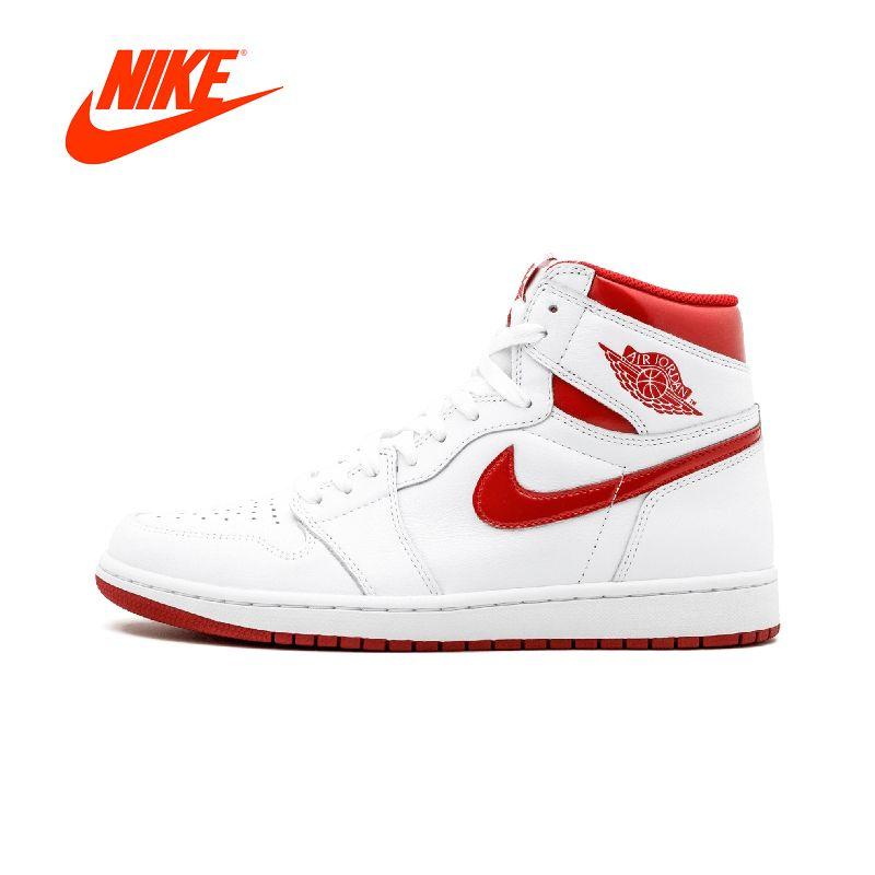 Original Authentic Nike Air Jordan 1 Retro High OG AJ1 Men's Basketball Shoes Sport Outdoor Sneakers Brand Designer 555088-103