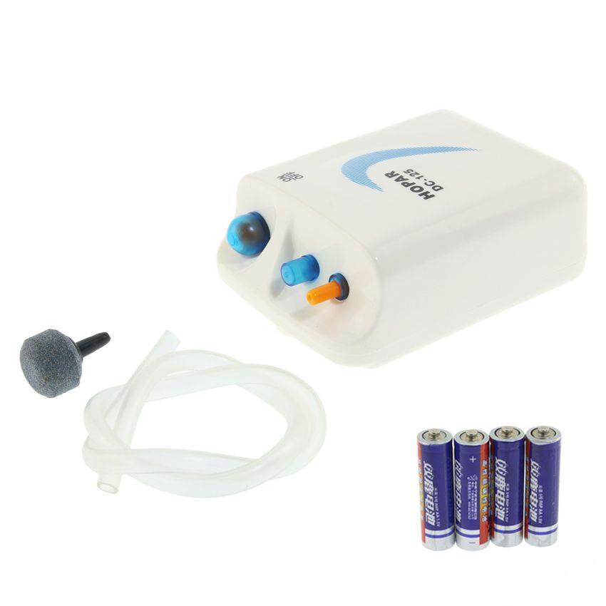 Pompe d'aquarium pêche en plein air portable pompe à oxygène batterie aérateur compresseur ornemental poissons Aquarium compresseur d'air 1.5 V 0.5 W