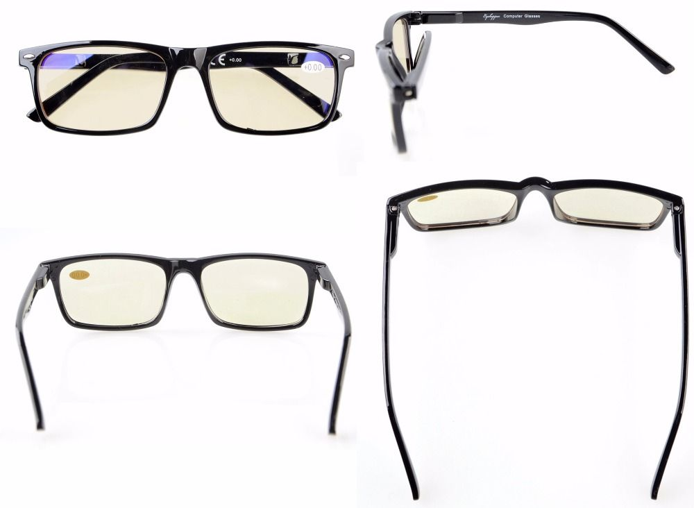 Mix 6-Pack Readers Spring Hinges Reading Glasses Included 2-Pack Computer Glasses +0.00----+4.00 AQ191-202