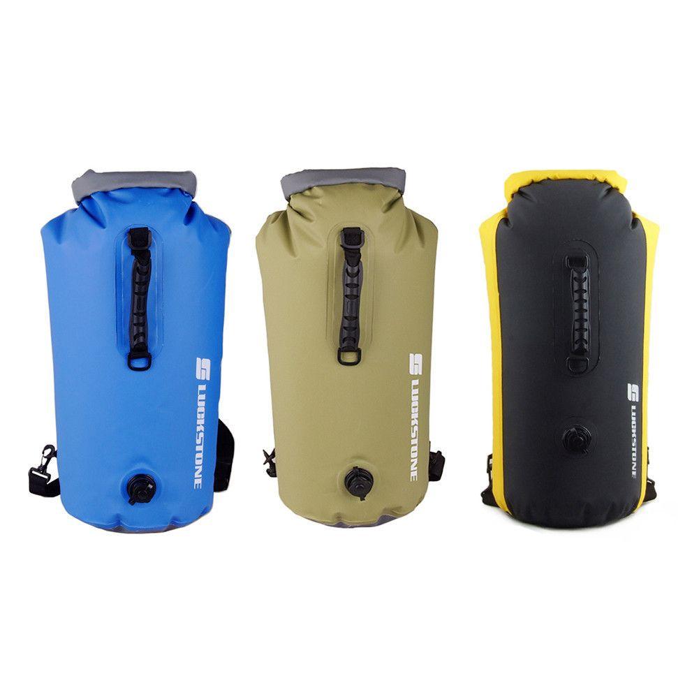 60L Pvc Inflatable Waterproof Dry Bag Backpack Swimming Kayak Rafting Drifting Camping Hiking Rucksack