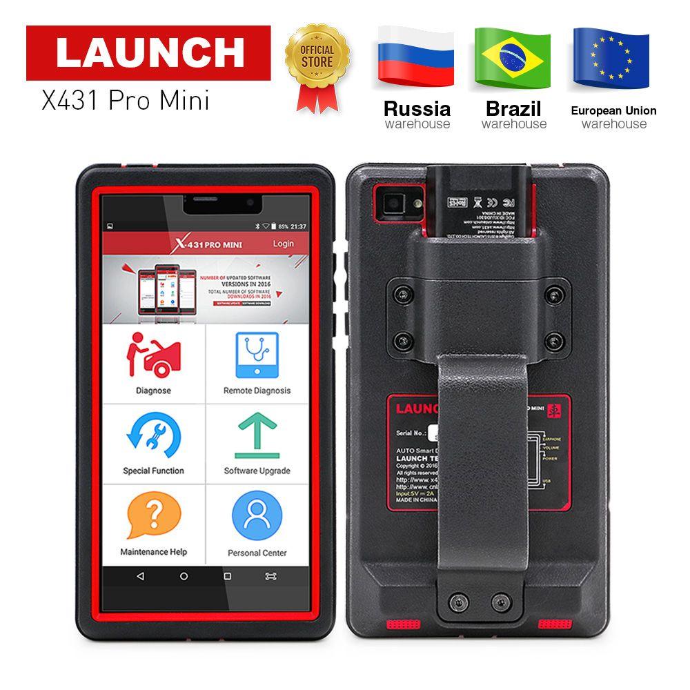 STARTEN X431 Pro Mini Volle Systeme Auto Diagnose werkzeug WiFi/Bluetooth X-431 Pro mini OBD2 Auto Scanner 2 jahre freies update X431 V