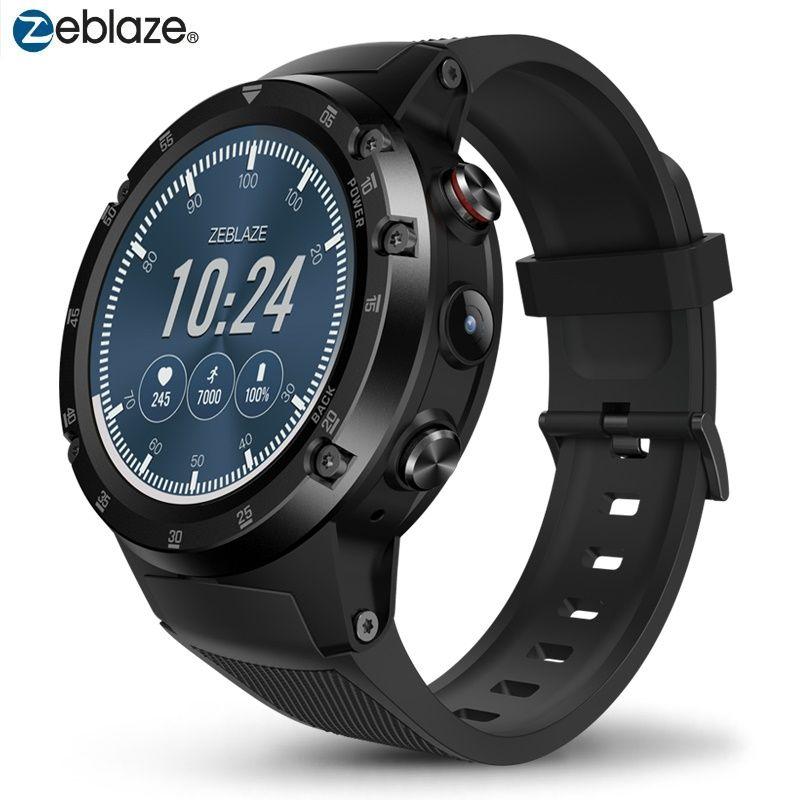 GPS Smart Watch 4G Wifi Smartwatch Zeblaze THOR 4 Plus Android 7.1.1 5MP Camera 1GB+16GB Wristwatches Man Woman MTK6739 580mAh