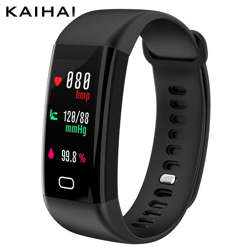 KAIHAI H20 Swimming Waterproof IP68 blood pressure blood oxygen heart rate sport smart bracelet Color screen Wristband message