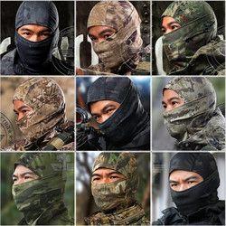 Militar Tático Caça Camuflagem Balaclava Máscara Facial Airsoft Paintball Engrenagem Da Motocicleta Ski Ciclismo Proteger Máscara Facial