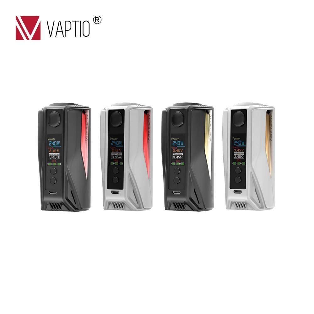 Cigarette électronique Vaptio 240 w boîte Mod N1 Pro 240 W mod affichage équipé externe 2/3*18650 batteries 0.1-5.0ohm résistance MOD