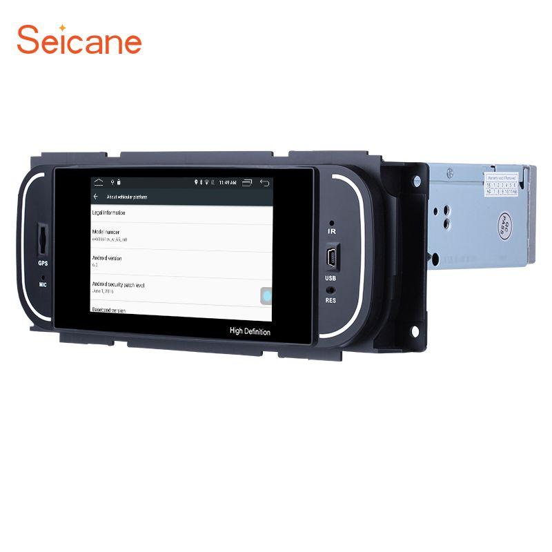 Seicane Android 6.0 5 Inch Car Radio Stereo Navi GPS Unit Player for 2001 2002 2003 2004 2005 2006 2007 Chrysler 300M PT Cruiser