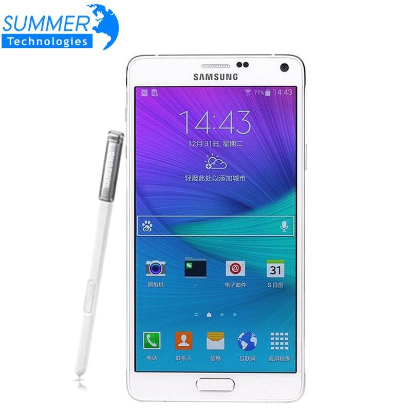 Original Unlocked Samsung Galaxy Note 4 Mobile Phone N9100 N910 Snapdragon 805 LTE 5.7