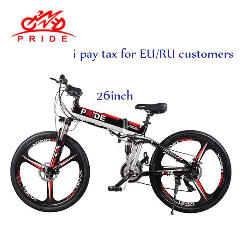 Elektrische bike 26 zoll Aluminium Falten elektrische Fahrrad 500 W Leistungsstarke bike 48V12A Lithium-Batterie 21 Geschwindigkeiten Schnee/Stadt /berg ebike