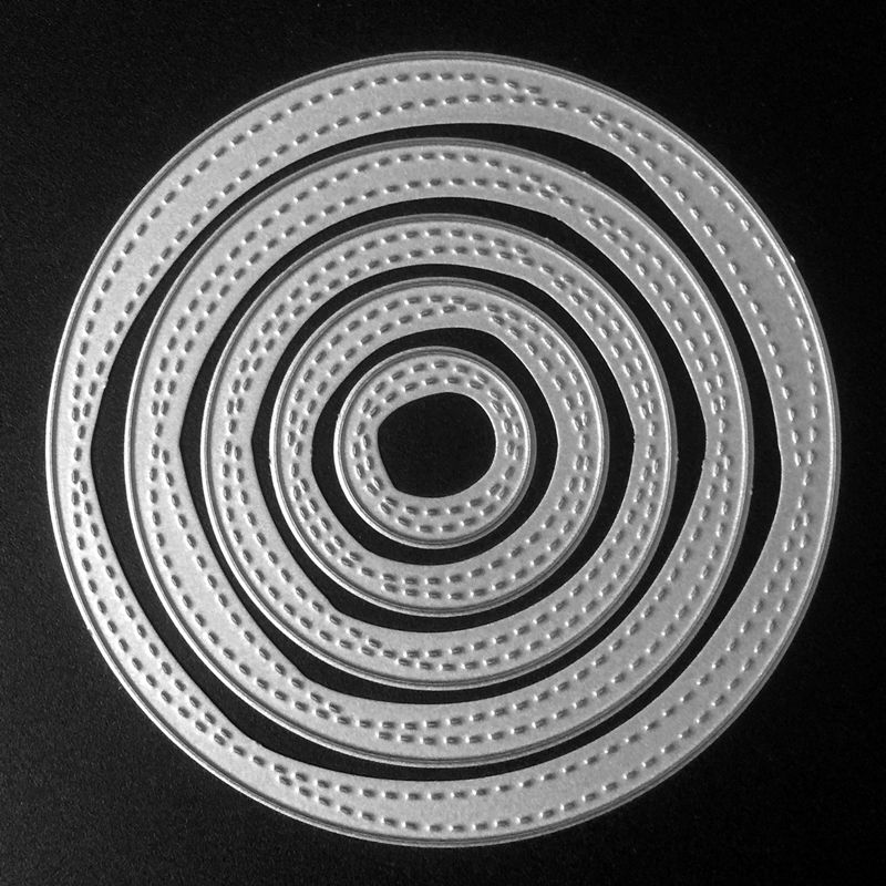 SCD527 Circle Metal Cutting Dies For Scrapbooking Stencils DIY Album Cards Decoration Embossing Folder Die Cuts Mold Tool New