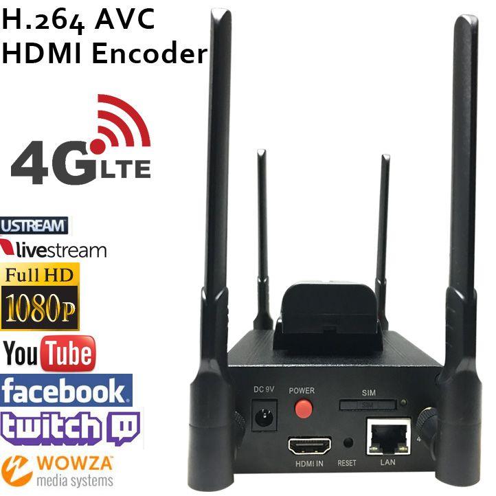 MPEG-4 AVC/H.264 4G LTE HDMI Encodeur Vidéo HDMI Émetteur Diffusion en direct codeur sans fil H264 iptv codeur