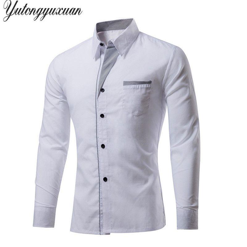 M-4XL Plus Size Top Sale Men's Luxury Shirts Stylish Casual Shirt Men Long Sleeve Slim Fit Shirt  Wedding Dress Shirts Tops