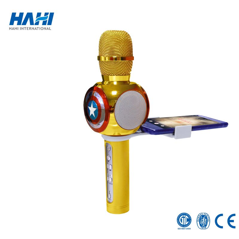 Portable Professional Bluetooth Drahtlose Mikrofon Karaoke Mikrofon Lautsprecher Handheld Musik Player MIC Singen KTV Mikrofon
