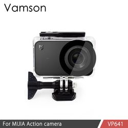Vamson for Xiaomi mijia Diving Waterproof Case for Mi jia Sports Camera Case 4K Action Camera Protective Housing VP641