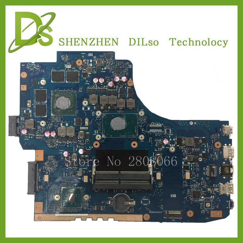 KEFU G752VW motherboar Für ASUS GL752VW Laptop motherboard GL752VW mainboard i7 CPU mit grafikkarte 100% getestet freeshipping