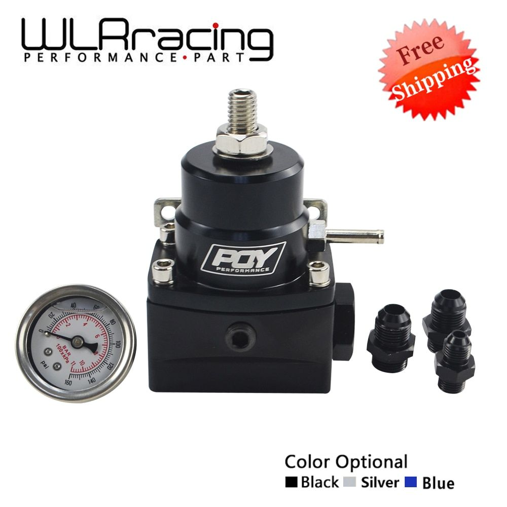 WLR RACING - FREE SHIPPING AN8 high pressure fuel regulator w/ boost -8AN 8/8/6 EFI Fuel Pressure Regulator with gauge WLR7855