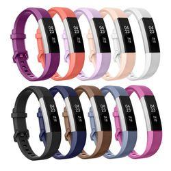 De haute Qualité Souple En Silicone Sécurisé Réglable Band pour Fitbit Alta Bande H Bracelet Bracelet Bracelet Montre Remplacement Accessoires