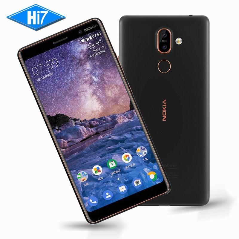 New Original Nokia 7 Plus 4G RAM 64G ROM Android 8 Snapdragon 660 Octa core 6.0'' 2160x1080P 18:9 3800mAh Bluetooth 5.0 16.0MP