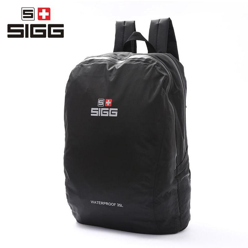 SIGG men women outdoor backpack hiking bag waterproof climbing bag soft shoulders travel mountain school black 2017