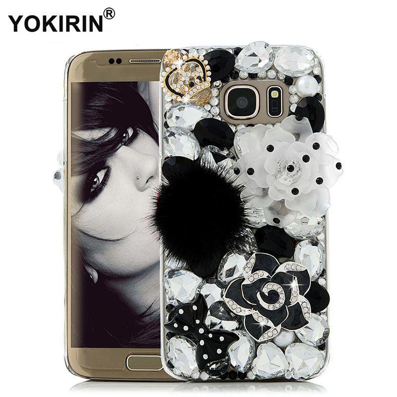 YOKIRIN 3D Strass Cas pour Samsung Galaxy S7 Bling Diamant En Cristal En Plastique Dur Housse De Protection pour Samsung Galaxy S7
