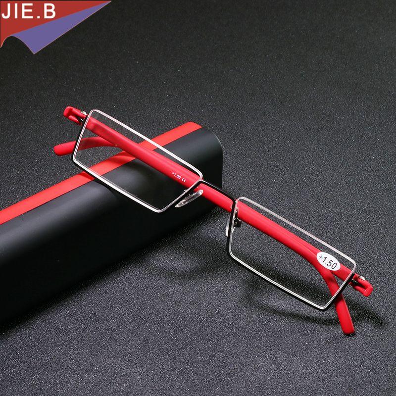 Ультра легкий складной очки Мужчины TR90 половины очки для чтения Для женщин Мини дальнозоркостью очки gafas-де-lectura lesebrille