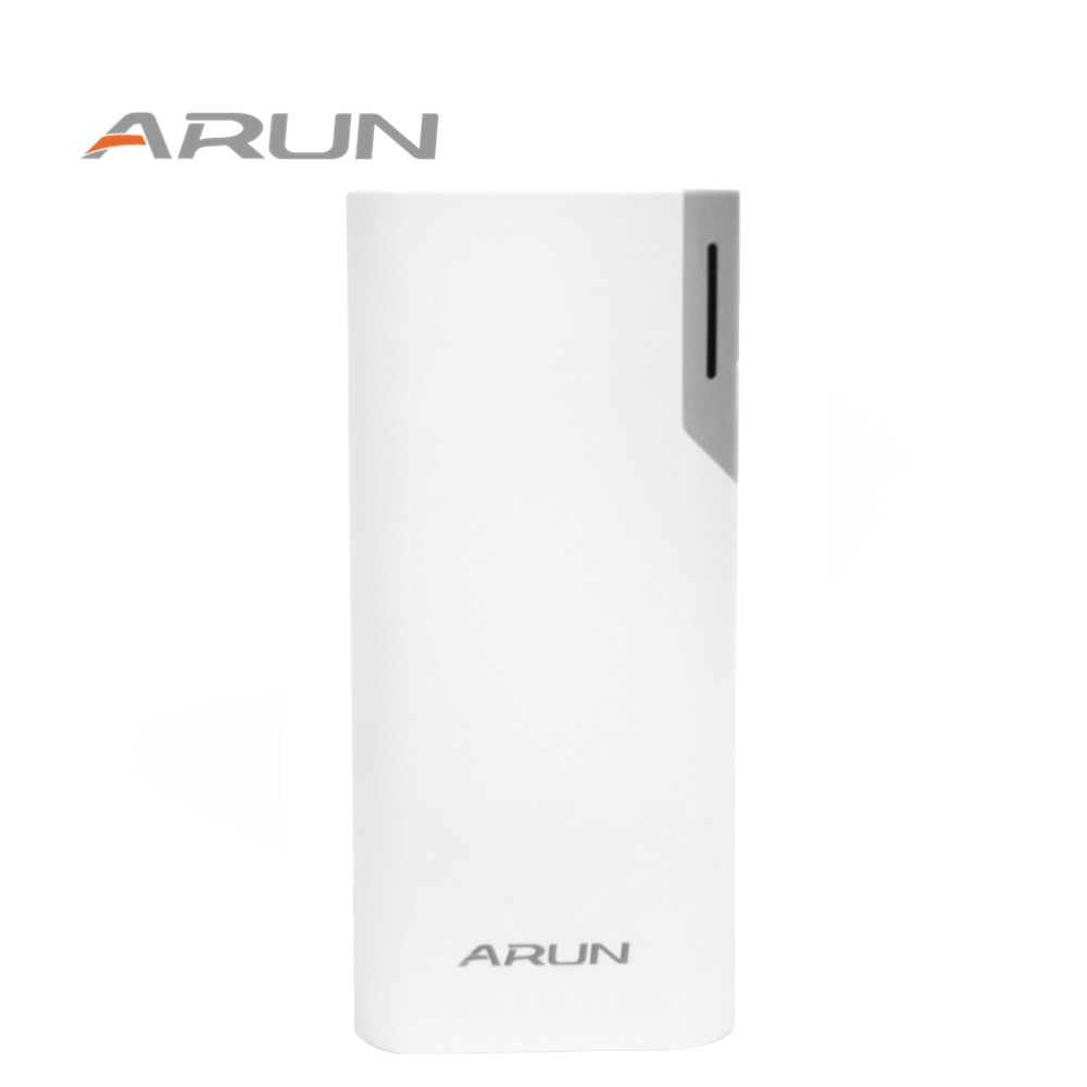 ARUN 10000mah Dual USB Pory Low-key Luxury High-speed Charging Technology Emergency Power Supply for Samsung Xiaomi 5 Huawei LG