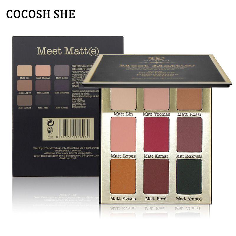COCOSH ELLE 9 Couleurs Mat Ombre À Paupières Maquillage Palette de Fard À Paupières Kit Lueur Beauté Fard À Paupières Cosmétique